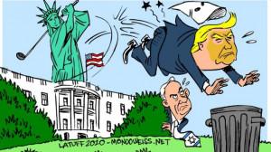 tossing Trump